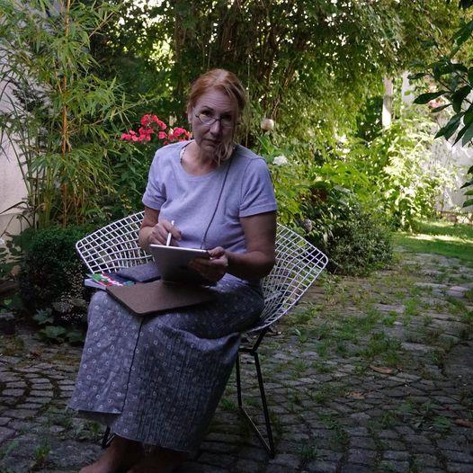 kreative Stunde im Garten