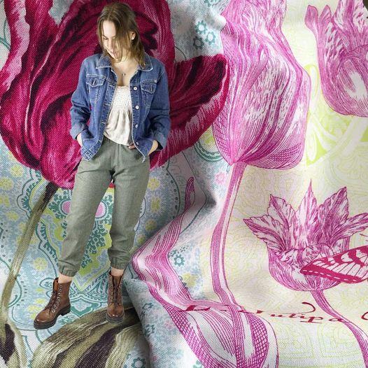 lässige Jeansjacke zur leichten Wollhose kombiniert